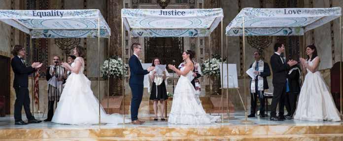 Three simultaneous weddings