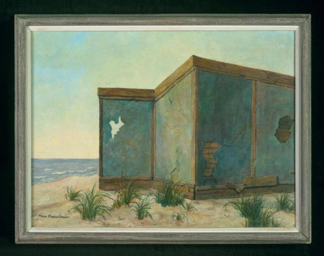 """""""Old Walls by the Sea"""" by Mina Krocherthaler, ~1968 Art in Exile, Leo Baeck Institute"""