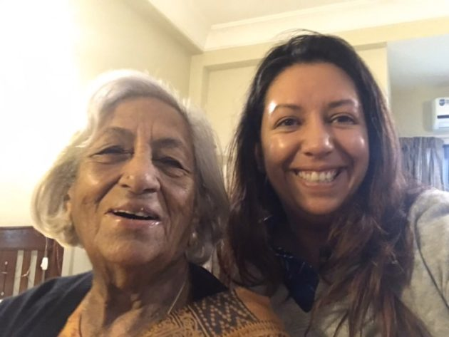 Devyani with her Nani-maternal grandmother.